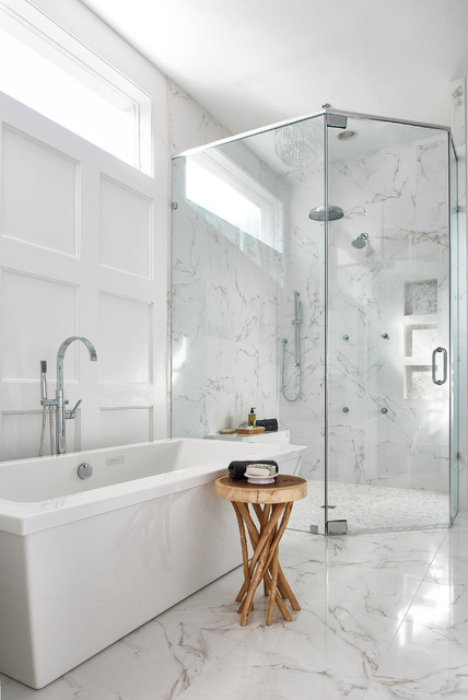 Updated Traditional Home Master Bathroom Transitional