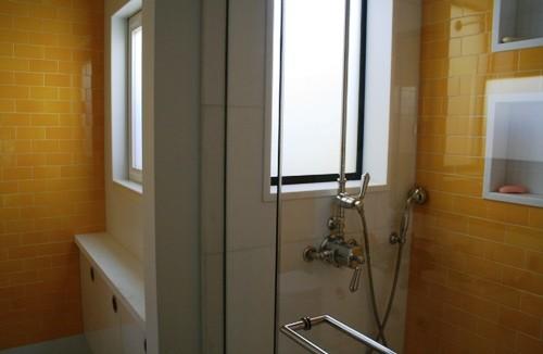 Upper Condominium modern-bathroom