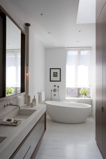 Upper East Side Carriage House contemporary-bathroom