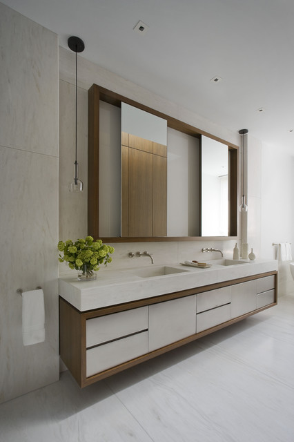 Upper East Side Apartment contemporary-bathroom