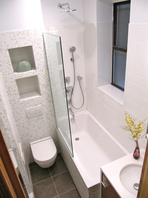 Small Bathroom Remodel Nyc upper west side bathroom renovation - modern - bathroom - new york
