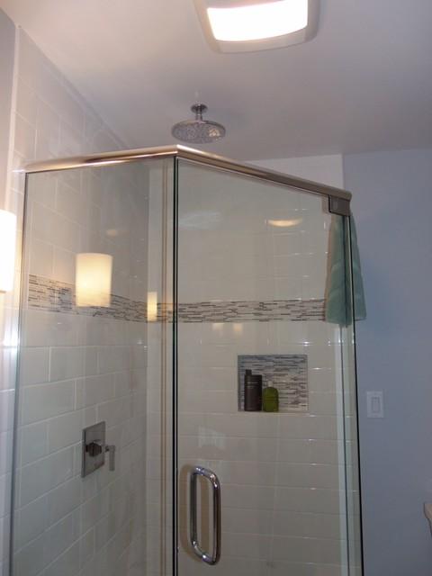 Upscale finished basement modern bathroom grand for Bathroom cabinets grand rapids mi
