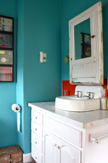 Upstairs Bathroom Sink eclectic-bathroom
