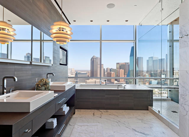 Uptown Penthouse 2 Modern Bathroom Dallas By