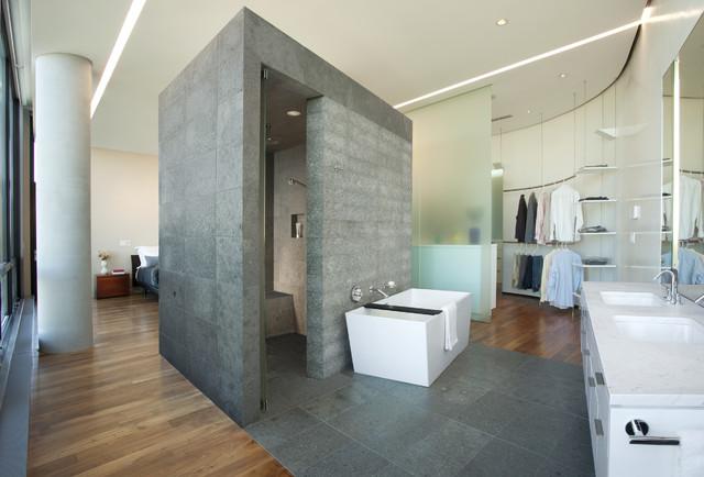 Camera da letto con bagno e cabina armadio - Bagno con sale grosso ...