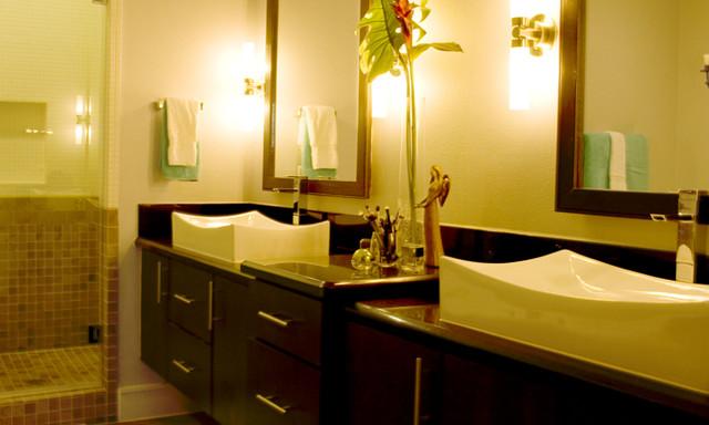 Urban Chic Contemporary Bathroom Houston By Missy Stewart Designs