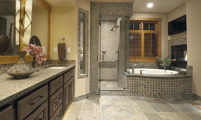 Urban Lodge Spa Bathroom Contemporary Bathroom