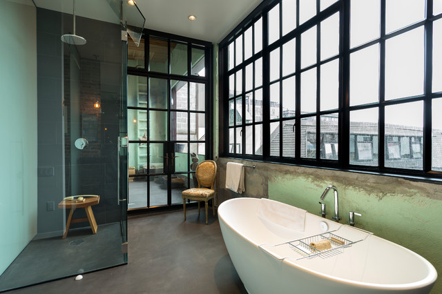 urban loft industriel salle de bain seattle par crescent builds. Black Bedroom Furniture Sets. Home Design Ideas
