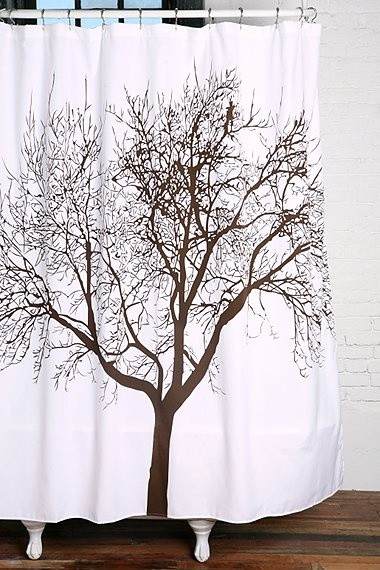 Urban Outfitters Tree Shower Curtain Eclectic Bathroom