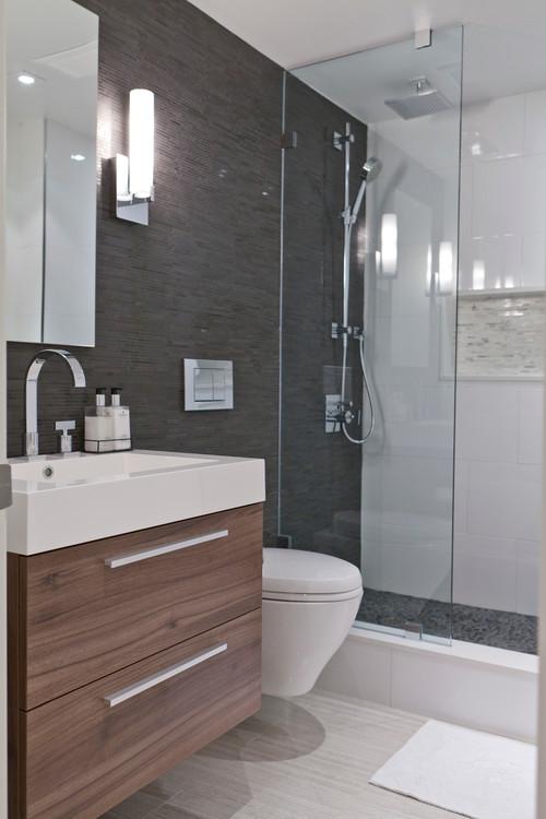 White Tile Bathroom Gray Grout