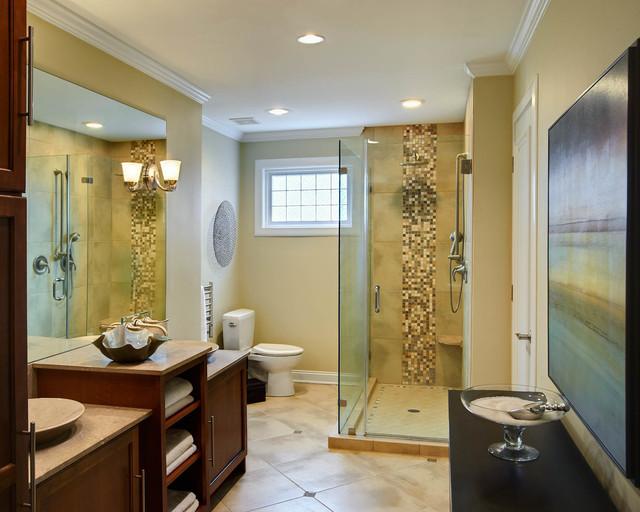 Urban style bathroom transitional bathroom charlotte for Bathroom interior design charlotte nc