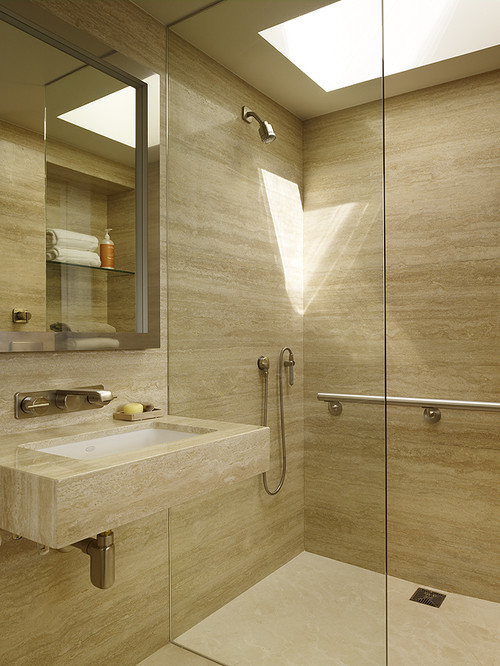 V & Company, Fine Builders modern bathroom