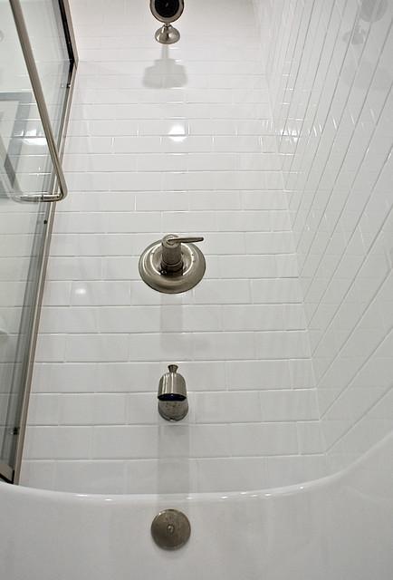 Vacation Condo Renovation transitional-bathroom