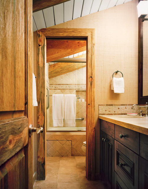 Vail Lodge Unit traditional-bathroom