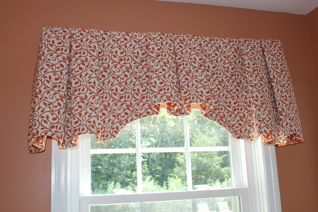 Valances - Top Treatments traditional-bathroom