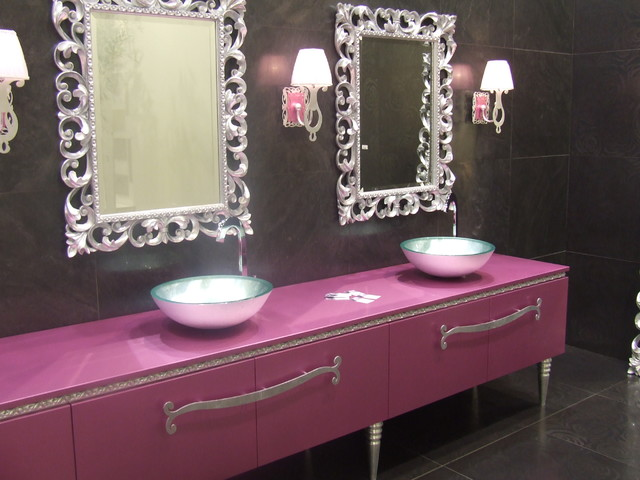 Valentino Tiles by Lea Bassani contemporary bathroom