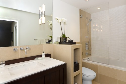 contemporary bathroom Bathrooms In Winter: Ventilation, Heating, Comfort, Style