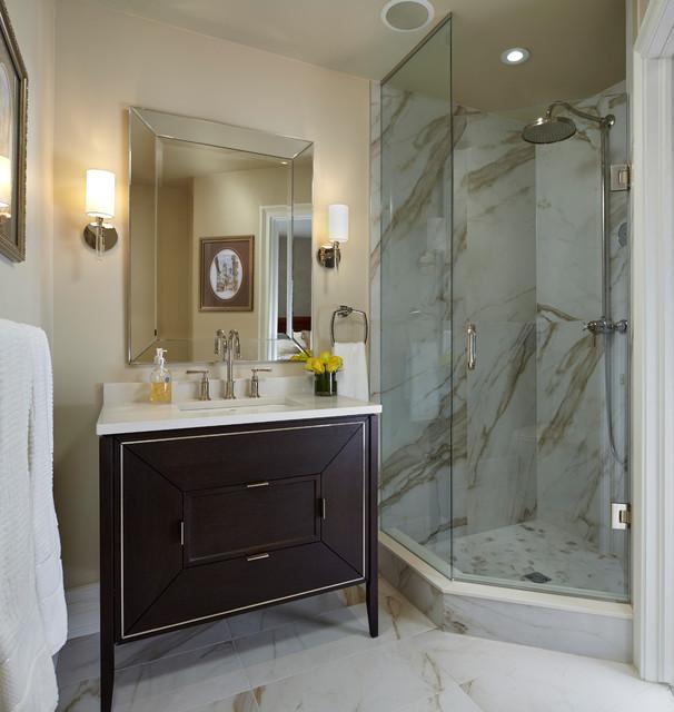 Valley Close Renovation-Upstairs Bath di-transizione-stanza-da-bagno
