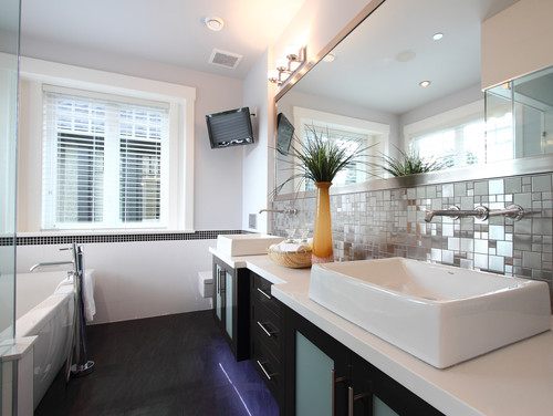 houzz bathroom metallic
