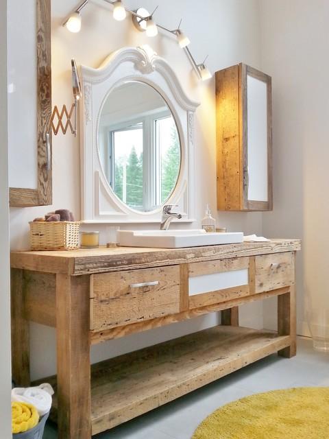 Vanit 233 Rustique Salle De Bain Beach Style Bathroom