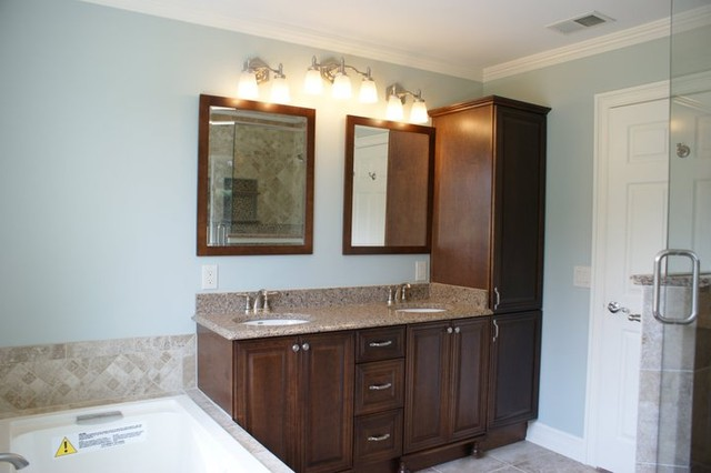 Vanity and linen tower - Traditional - Bathroom - new york ...