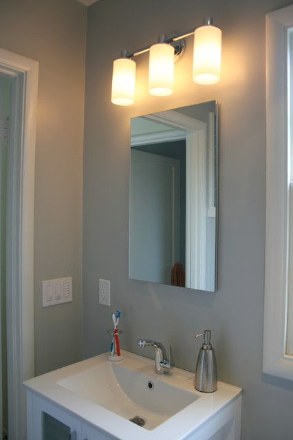Vanity and Sconce traditional-bathroom