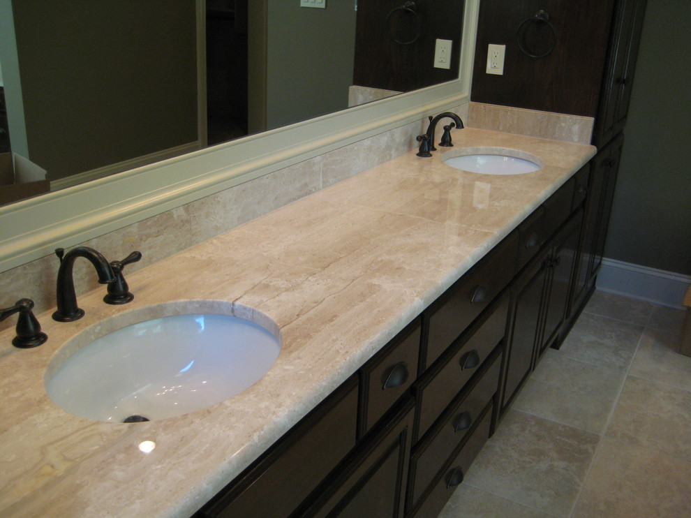 Vanity: Deano Reale marble - Traditional - Bathroom - New ...