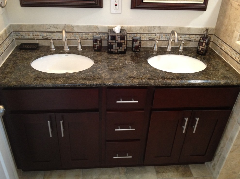 Vanity + Granite - Contemporary - Bathroom - San Diego ...