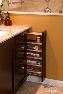 organizing the kitchen vanity pullout bathroom philadelphia by harth builders 1276