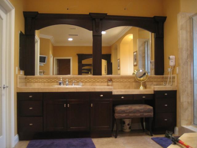 Vanity Refinishing New Framed Mirrors And Doors Traditional Bathroom Bathroom Vanity Refinish Vanity 002 Marvellous