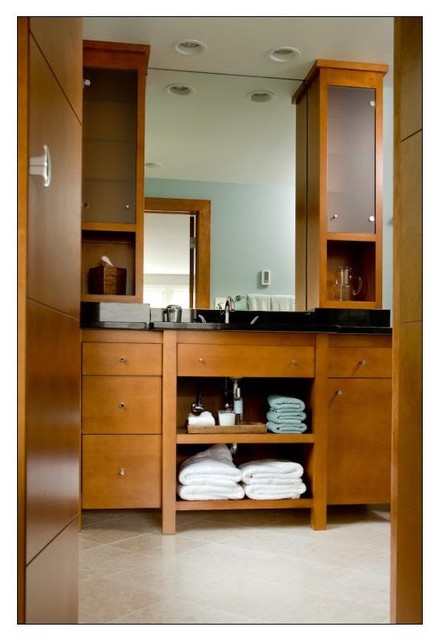 bathroom cabinet tower vanity w 2 tower cabinets contemporary bathroom 10329