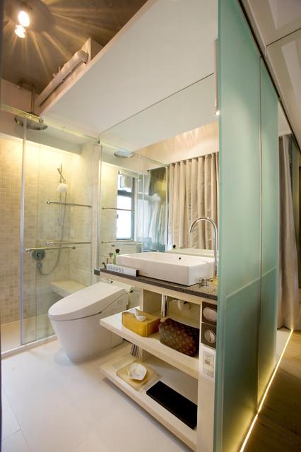 Vantage Park - Maximum flexibility with 10 sliding doors contemporary-bathroom