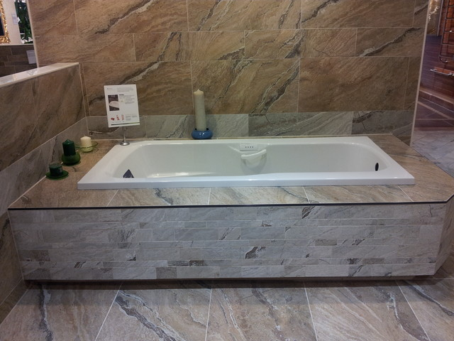 Varenna Wall and Floor Tile with Bain Ultra Thermo Massage Tub ...