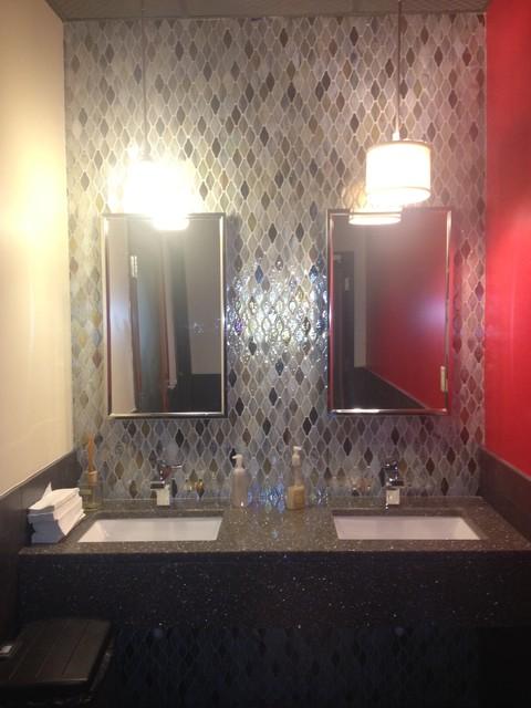 Various contemporary-bathroom