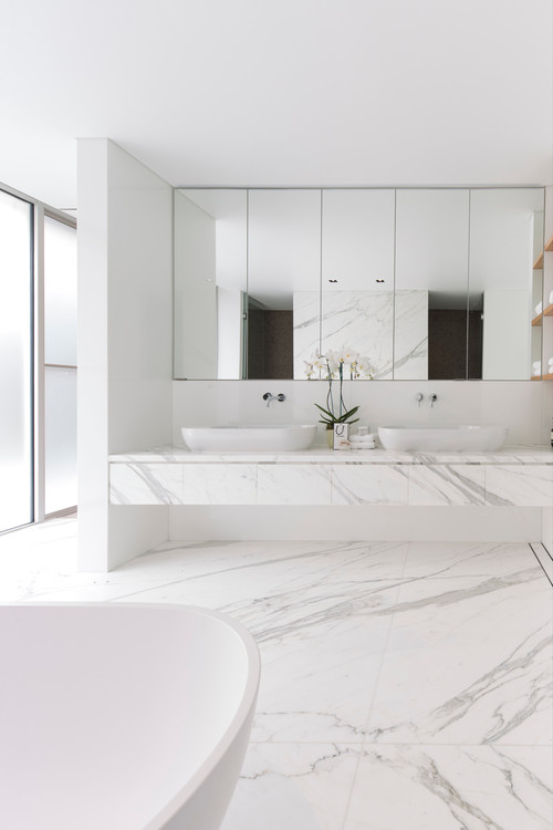 modern bathroom Color of the Month: Decorating with White