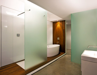 Vegas Loft Industrial Bathroom Las Vegas By
