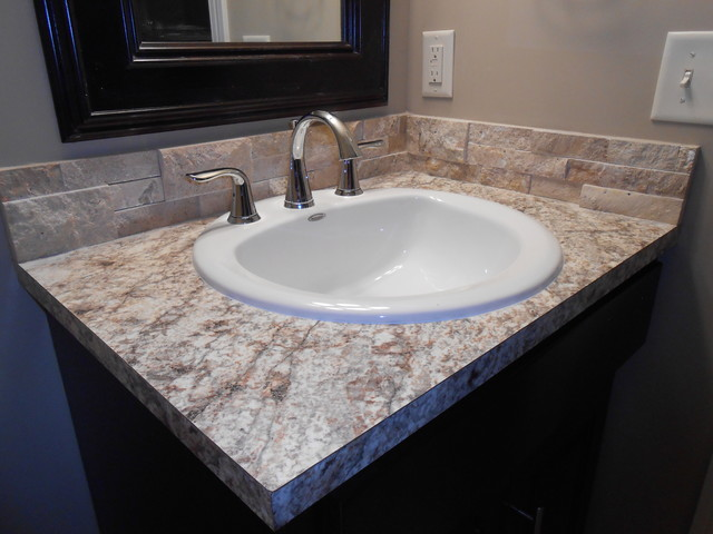 Brilliant One Part Of The Upmodeling Is The Counter This Bath Originally Had A
