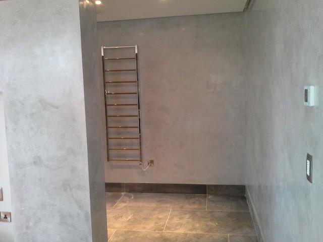 Venetian plaster modern bathroom manchester by for Venetian plaster bathroom ideas