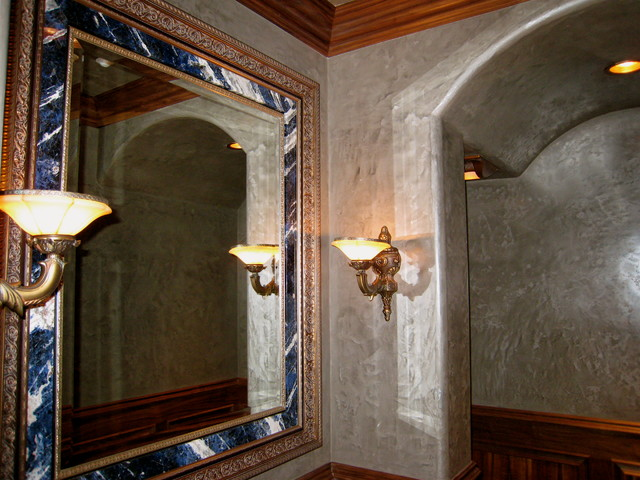 Venetian plaster mediterranean bathroom austin by for Venetian plaster bathroom ideas
