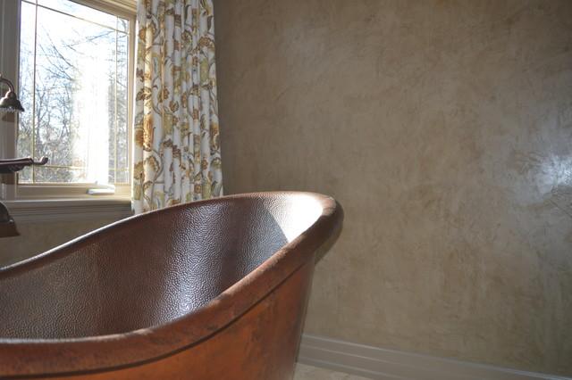 Venetian plaster master bath traditional bathroom for Venetian plaster bathroom ideas