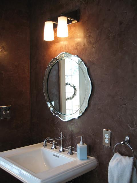 Venetian Plaster Powder Room In Monmouth Beach NJ