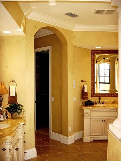 Venetian Plaster Mediterranean Bathroom Tampa By