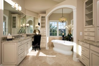 Venetian Style Homes venetian-style bathroom in ashburn, virginia - traditional