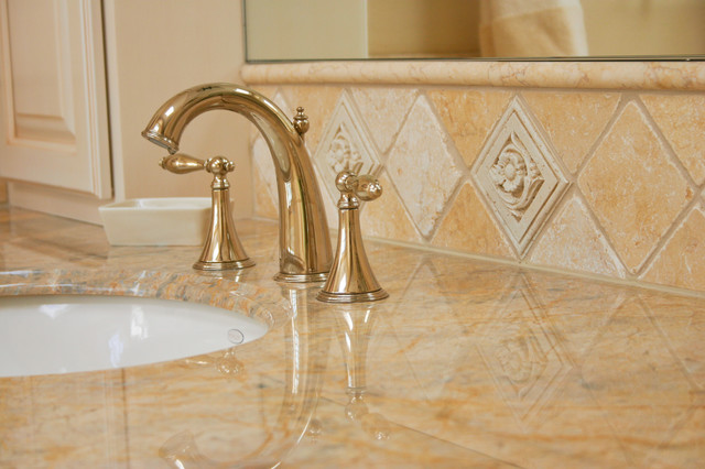 Venezia Artifex Tumbled Stone Bathroom Sink Backsplash Traditional Bathroom San Francisco