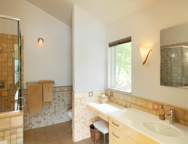 Vermont Lake Home traditional-bathroom
