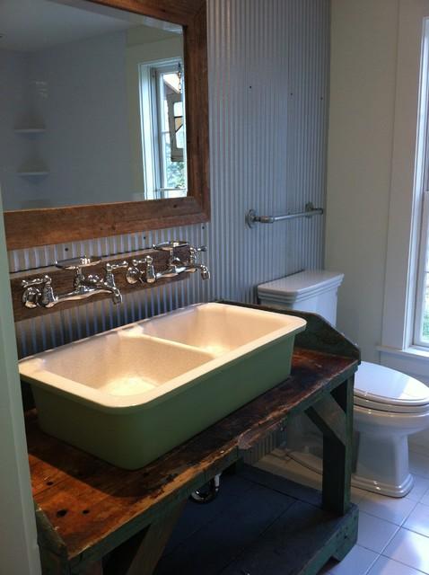 Vermont Ski House Eclectic Bathroom Boston By Mjg