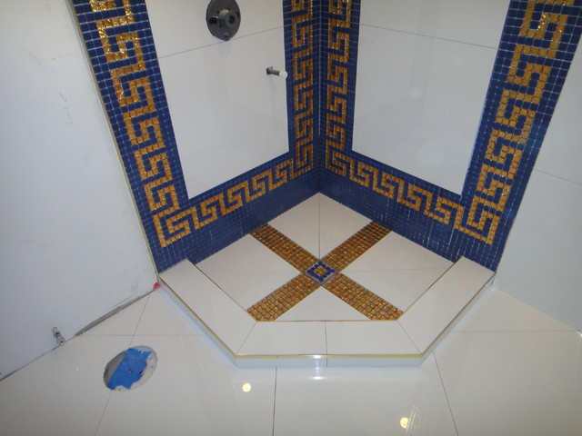 Versace Bathroom by Our Genius Tile Installer : traditional bathroom from www.houzz.com size 640 x 480 jpeg 68kB