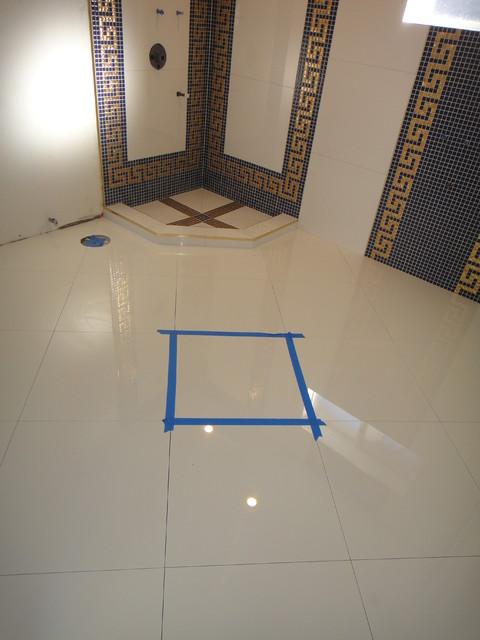 Versace Bathroom by Our Genius Tile Installer