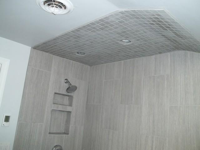 Innovative Vertical Shower Tile Accent  Houzz