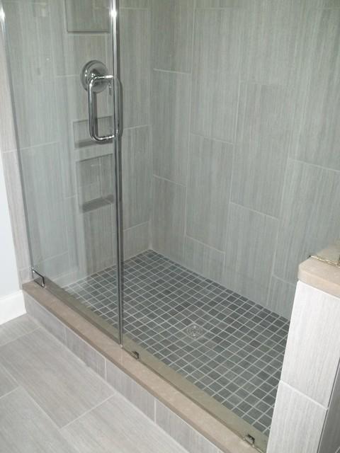 Vertical Tile Contemporary Bathroom